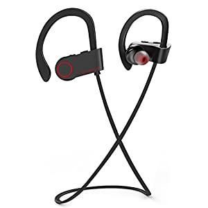 Bluetooth Headphones, Wireless Headphones, FIVE 0 EIGHT Best Wireless Sports Earphones w/ Mic IPX7 Waterproof In Ear Earbuds for Gym Running Workout 8 Hour Battery Noise Cancelling Headsets-Black