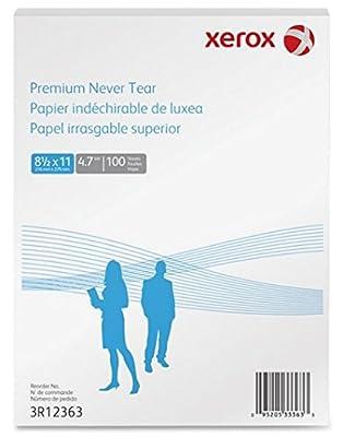 "Xerox 3R12363 Xerox Polyester Paper , 4.7 Mil, 8 1/2"" X11"", 100 Sheets/Box, White"