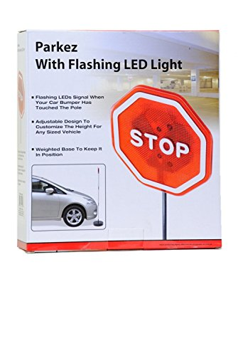 Parkez Flashing Led Light Parking Stop Sign For Garage