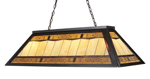 Elk 70113-4 Tiffany Game Room Lighting 4-Light Billiard Light, Light, 18-Inch, Tiffany Bronze Metal