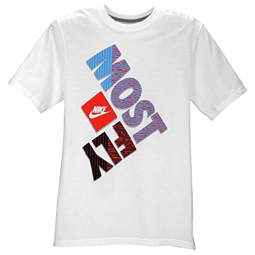 Nike Men's Most Fly T-Shirt Large White Blue Red