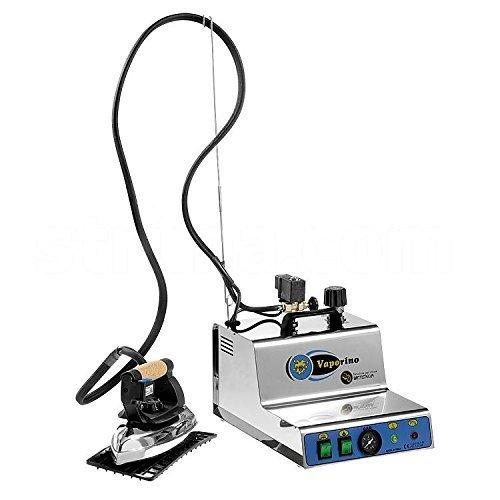 BATTISTELLA Vaporino Maxi Inox Ferro da Stiro Professionale – Generatore di Vapore con Ferro da Stiro – 2,1 Litri – con Suola in Teflon – Nuovo