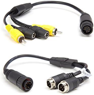 Carmedien Adapter Kabel f/ür Waeco Dometic Perfectview R/ückfahrkamera Anschlusskabel auf Twin Doppel Shutter Camera cm-DSKRFK