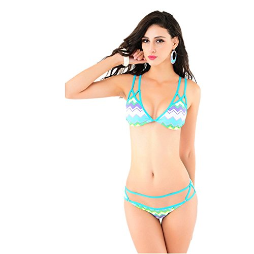 HaiBote New Bikini Bathing Suit Ms Printing Corrugated Yet Sexy Swimwear Beach - Wholesale Bando