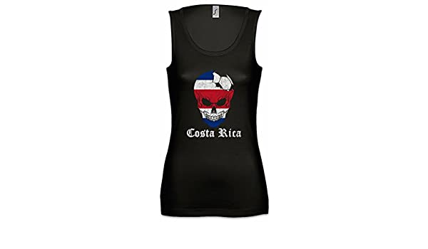 Urban Backwoods Costa Rica Football Skull I Mujer Camiseta Sin Mangas Tank Top Sizes S - XL: Amazon.es: Ropa y accesorios
