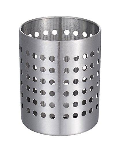 KSENDALO Utensil Silverware Holder, Stainless Flatware Organizer, Drying Holder for Kitchen Home Office, Diameter 4.72'' by KSENDALO