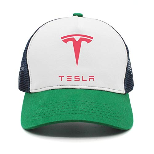 Stylish Tesla-Logo-Symbol-Emblem- Green Baseball hat Womens Mens