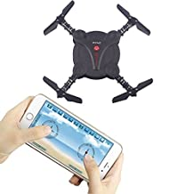 YouCute YC0092W WIFI FPV Pocket Foldable drone with Camera Altitude hold mode RTF (Black)