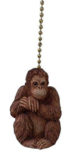 (African Primate Jungle Orangutan Ape Ceiling Fan Light Pull)