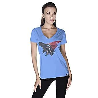 Creo Batman Power T-Shirt For Women - L, Blue
