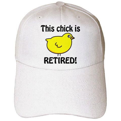 EvaDane - Funny Quotes - This chick is retired. - Caps - Adult Baseball Cap (cap_194298_1)