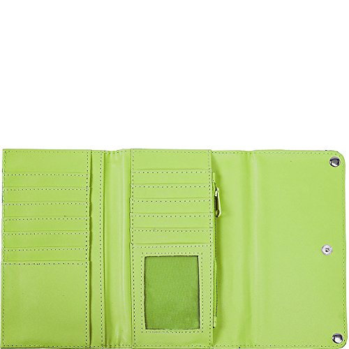 Eveline Closure Tri Wallet Snap Pewter Fold Women's Parinda p8HPqwzW