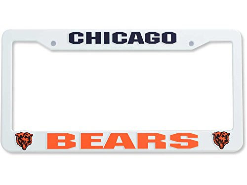 Rico Industries NFL Plastic License Plate Frame, Chicago Bears