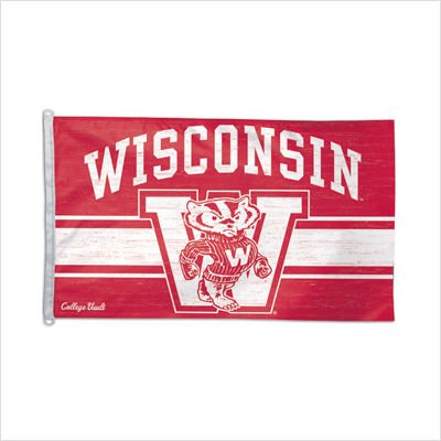 NCAA College Vault Wisconsin Badgers 3-by-5 Foot Flag