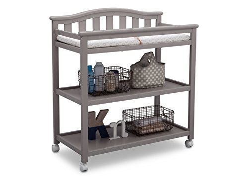 Delta Children Bell Top Changing Table with Casters, Grey by Delta Children (Image #3)