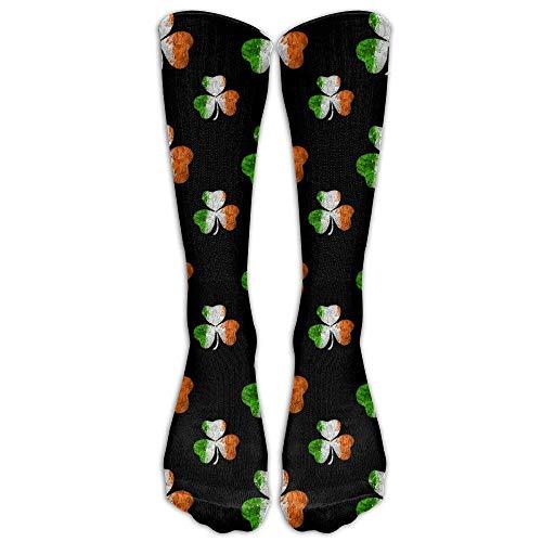 Unisex Cotton Irish Flag Shamrock Pattern Compression Sports Socks