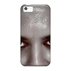 Premium Yellow Eyes Back Covers Snap On Cases For Iphone 5c