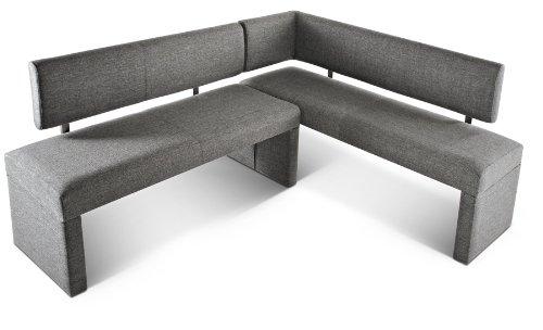 Eckbank grau  SAM® Eckbank Sasa in grau 195 x 152 cm Beidseitig aufbau bar ...
