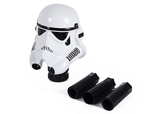 FabSelection Universal Auto Car Manual Gear Stick Shift Shifter Lever Knob Cover Star Wars Clone Trooper White - Manual Shift Levers