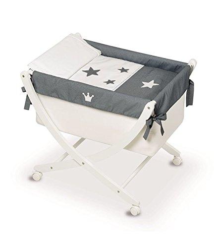 Bimbi Krone–Baby, 68x 83x 76cm, weiß und grau