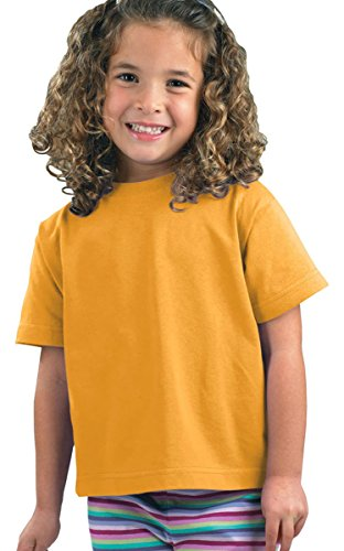 Gold Rabbit (Rabbit Skins Toddler Short-Sleeve T-Shirt (M-3301) Tee Available in 31 Colors,5T/6T,Gold)
