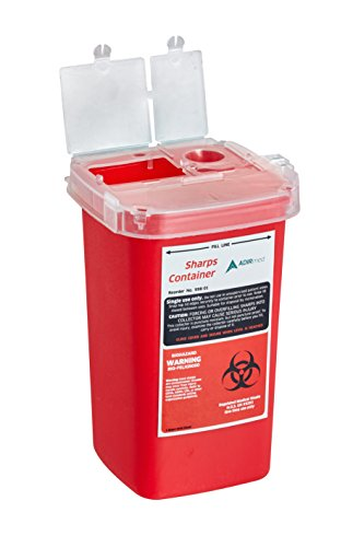 AdirMed Sharps & Needle Bio-Hazard Disposal Container 1 Quart - 1 Pack by Adir Med (Image #3)