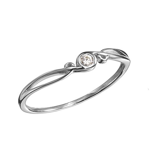 Diamond engagement ring by Majade. White gold ring, White gold engagement ring, 14k white gold wedding band. Handmade solid gold unique alternative engagement ring. Small simple diamond wedding ring.