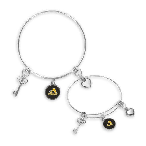 Anderson Silver Bangle Bracelet With Three Charms