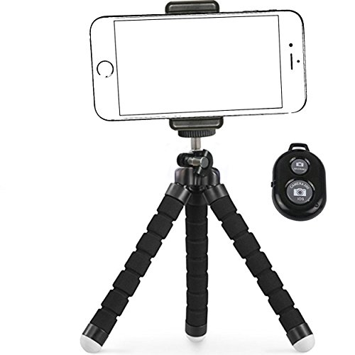 IPhone Tripod,By Ailun,Tripod mount/stand,Phone Holder,Small&Light,for iPhone X/8,7/7plus,6/6s,6/6s Plus,SE/5s/5/5c,Galaxy S7/6,Note 5/4/3 More Cellphone,Camera with Remote[Non Battery Pack]