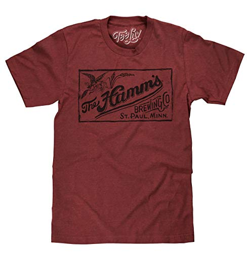 - Tee Luv Hamm's Brewing Company T-Shirt - Licensed Hamms Beer Shirt (XXX-Large) Brick Heather