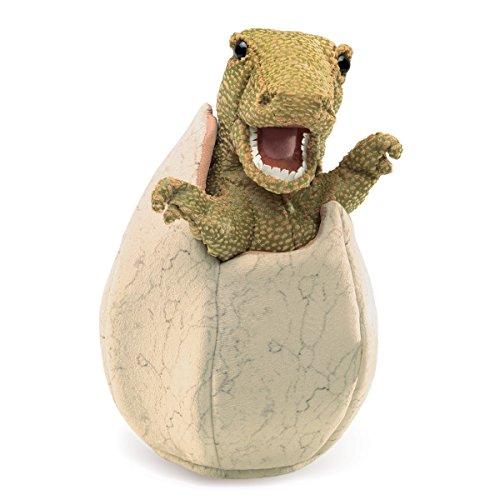 Folkmanis 3134 Dinosaur Egg Hand Puppet, One Size, Multicolor