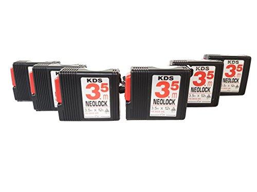 KDS YS-3505ME - Measuring Tape A.B.S. Plastic Case Steel NEO LOCK 3.5 Meter / 12 ft. ( 6 Pack )