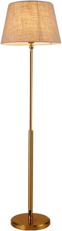CUTICATE Lámpara de pie Vintage para Salas de Estar Modernas de Mediados de Siglo - Lámpara de pie para Oficina y Dormitorio - Lámpara de Lino Elegante de 60 Pulgadas de Alto