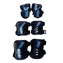Set of 6 Toddlers Children Sports Knee Pads Elbow Pads Wrister Bracers Durable Protection Gear Safeguard Safety Pads for Kids Skating Ice Skate Skateboard Extreme Sports Protector Guards
