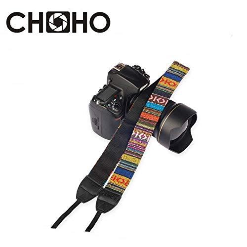 HAMISS Camera Neck Strap Universal Adjustable Cotton Leather Shoulder Belt Weave Holder Bohemia for Canon for Sony Nikon…