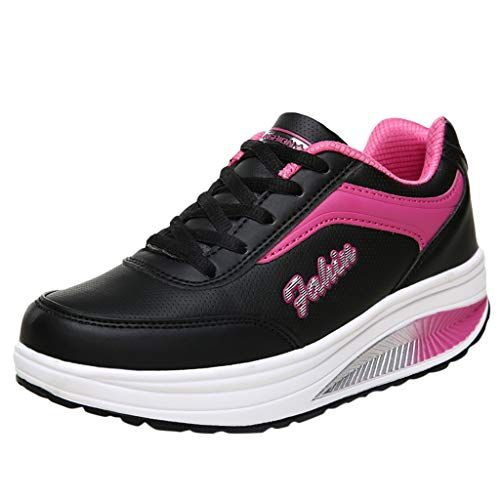 Women's Sneakers Running Walking Gym Sport Lightweight Breathable Casual Student Mesh Street Shoes Blue,Pink,Black]()