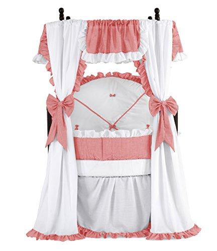Baby Doll Bedding Darling Round Crib Set, Red