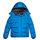 Wantdo Boys Warm Winter Coats Fleece Cotton Puffer Jacket Casual Outwear Blue 8