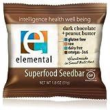 Elemental Superfood Seedbar, Dark Chocolate + Peanut Butter (Pack of 12)