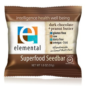 Elemental Superfood Seedbar, Dark Chocolate + Peanut Butter (Pack of 12) by Elemental Superfood