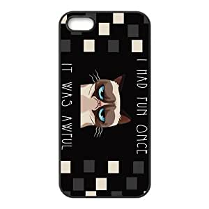 iPhone 5S Protective Case - Grumpy Cat Hardshell Carrying Case Cover for iPhone 5 / 5S