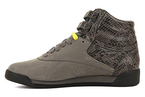 Zapatillas Clásicas Reebok Para Mujer Fs Hi Exotics River Gray / High Green / Black