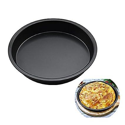 oumosi 8 pulgadas pizza bandeja para hornear horno antiadherente Round Pizza Pan