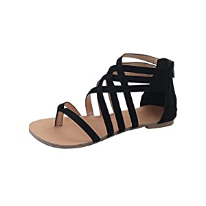 Bohemian Sandals - Anxinke Summer Flat Shoes Sandals for Women