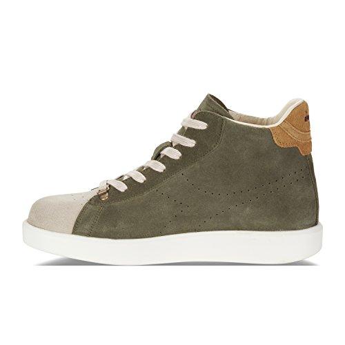 Diadora Heritage Uomo, Game H Midcut Kidskin Olive, Suede, Sneakers Alte, Verde