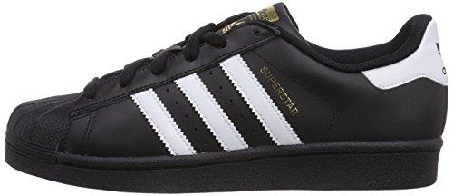 Adidas J Mode Superstar Garçon Black core Noir White Basket core Black footwear 6ZwUa6