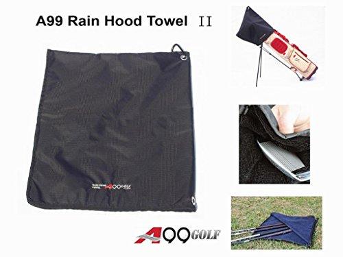 A99 Golf Rain Hood Towel Waterproof Golf Bag Cover Black New