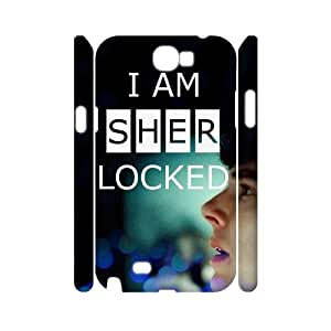 Chinese Sherlock Custom 3D Case for Samsung Galaxy Note 2 N7100,personalized Chinese Sherlock Phone Case