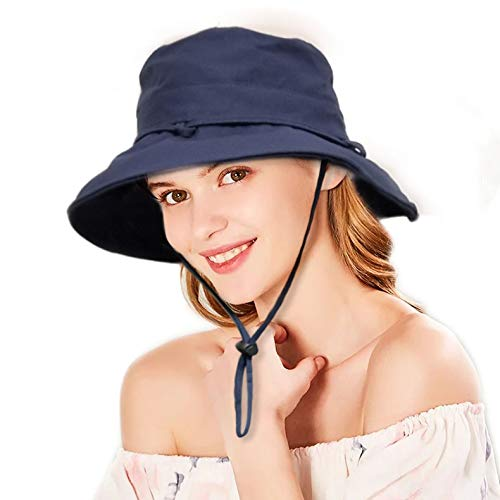 cc8f5a83 Image Unavailable. Image not available for. Color: Womens Sun Hats Packable  Sun Hat for Women Summer Bucket UV Protection ...