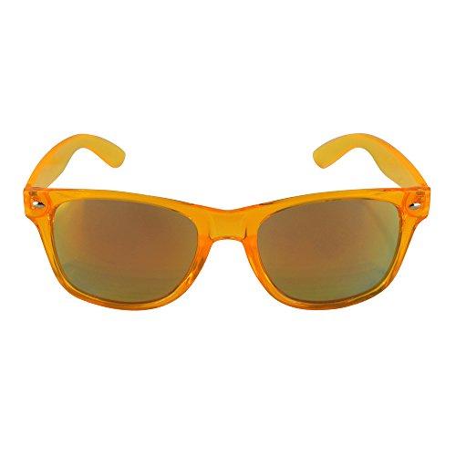 Retro Rewind Classic Wayfarer Sunglasses (Translucent Orange, (Orange Wayfarer)